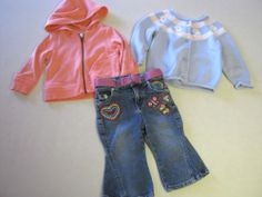 Baby Girl Clothes 12 M Months 3 Pc Lot Gymboree Carters Jeans Sweater Jacket
