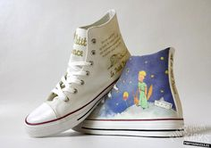 The Little Prince Converse decoration by PimpYourKicks
