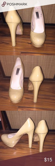 Steve Madden Leather Upper Heels Definitely worn for recruitment but selling them for cheap just to get rid of them cleaning out the house Steve Madden Shoes Heels