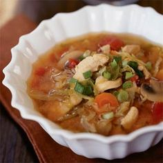 Lemon Grass Chicken Soup | MyRecipes.com ~ This Asian-inspired chicken soup is chock full of meat, vegetables, and delicious spices like lemongrass, ginger, garlic, and fish sauce