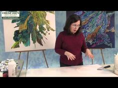 How to Paint on the Pouring Collage with Debbie Arnold - YouTube