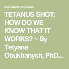 Tetanus Shot Abbreviation | Tetanus | Pinterest | First ...