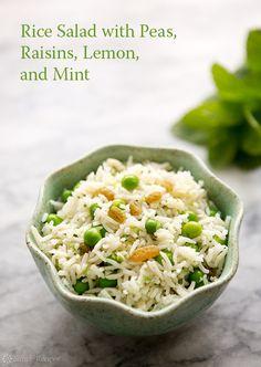 Basmati Rice Salad with Peas, Mint, and Lemon Recipe on SimplyRecipes.com