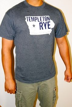 """Templeton Rye """"Greetings from Templeton"""" Tee Gray Templeton Rye, Whiskey, Dutch, Gift Ideas, Gray, Tees, Mens Tops, T Shirt, Gifts"""