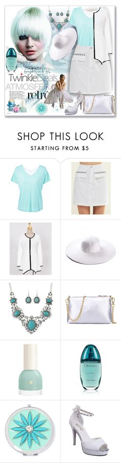 """""""White is always in fashion"""" by ane-twist ❤ liked on Polyvore featuring Calvin Klein, Liz Claiborne, vintage, Fall, dress, plussize, twinkledeals and Dressunder50"""