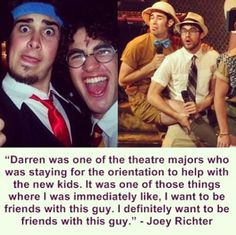Darren Criss and Joey Richter ❤️ I love their friendship so much