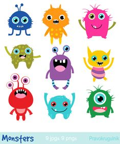 Little monsters clipart, Birthday party monsters, Monsters invitation clipart, Cute monsters, Alien Cute Monsters, Little Monsters, Party Monsters, Cartoon Monsters, Monster Face Painting, Monster Clipart, Monster Invitations, Little Monster Party, Mothers Day Crafts For Kids