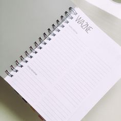 JULIAblog: Mój planner, czyli pomocnik w organizacji czasu Notebook, The Notebook, Exercise Book, Notebooks