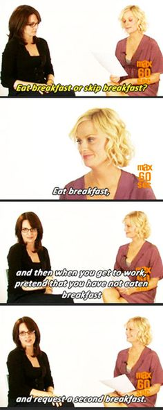 Tina Fey & Amy Poehler-- Second Breakfast.