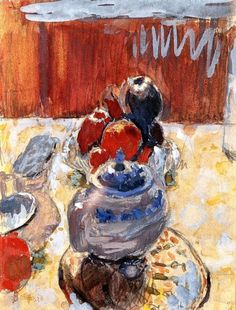 Still Life with Fruit - Pierre Bonnard, 1930 French,1867-1947 Watercolour, 16 cm (6.3 in.) x 13 cm (5.12 in.)