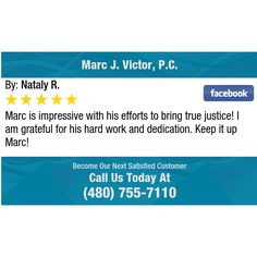 Marc is impressive with his efforts to bring true justice! I am grateful for his hard work...