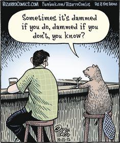 Bizarro Cartoon for Cute Jokes, Funny Jokes For Adults, Dad Jokes, What's So Funny, Funny Puns, Funny Quotes, Funny Stuff, Cartoon People, Cartoon Jokes