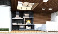 Летняя кухня - беседка модель - палуба из клееного бруса - проект компании Буковель