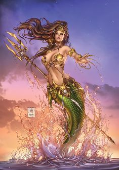 """""""The Little Mermaid"""" Printed on a Sterling Gloss 100lb /260 g paper, in large A3 format. Signed by Mike Krome"""