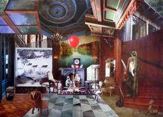 pretence Saatchi Online, Online Gallery, Saatchi Art, My Arts, Collage, Canvas, Paper, Artist, Painting