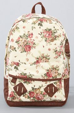 bcf2c7e261f2  Accessories Boutique The Flower Printed Backpack in Light Beige    Karmaloop.com - Global