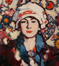 John Duncan Fergusson, Scottish artist and sculptor, regarded as one of the major artists of the Scottish Colourists school of painting. With Modern Art Century Figure Painting, Painting & Drawing, John Duncan, L'art Du Portrait, Art Gallery, Art Et Illustration, Art Uk, Matisse, Figurative Art