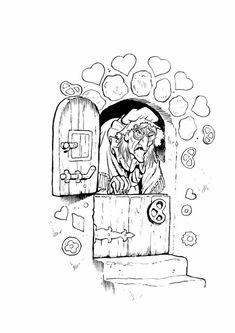 coloring page Efteling on Kids-n-Fun. At Kids-n-Fun you will always find the nicest coloring pages first! School Coloring Pages, Colouring Pages, Coloring Sheets, Adult Coloring, Coloring Books, Fairy Tale Projects, Bujo Doodles, Simple Doodles, My Little Girl