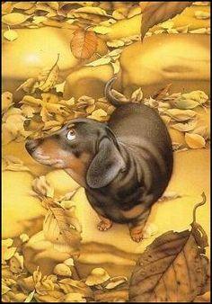 Pattern and dog art. #dogs #pets #Dachshunds #artwork facebook.com/sodoggonefunny
