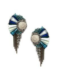 Beautiful and unusual statement earrings made with Swarovski crystals.
