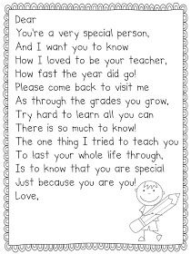 Mrs. Plant's Press: End of the Year Poem Freebie - okay, this kind of brings a tear to my eye! June is coming soon !