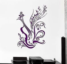 Wall Stickers Vinyl Decal Guitar Sheet Music Coolest Room Decor (ig965)