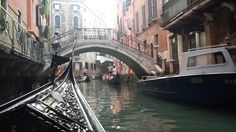 Meandering through Venice canal