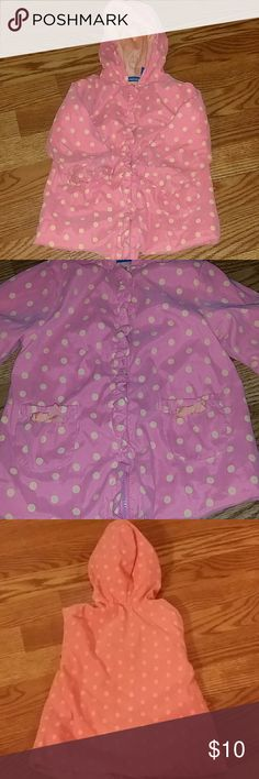 Pink and Yellow polkadot Jacket 18 months greendog pink with yellow polkadot jacket. Lined with 100%cotton. Cute girly detail on front. greendog  Jackets & Coats Puffers