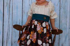 Pumpkin Creme Pie. Adelaide Original Fall dress for little girls, thanksgiving dress, toddler baby dress