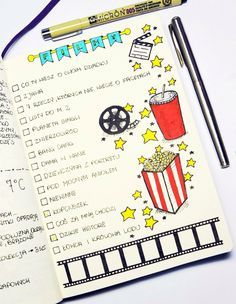 Keep in your bullet journal all the movies and tv shows you have watched or want to experience. Here are 37 gorgeous bullet journal movie tracker spread ideas for your bullet journal. Bullet Journal School, Bullet Journal Mise En Page, Bullet Journal Films, Bullet Journal 2019, Bullet Journal Ideas Pages, Bullet Journal Spread, Bullet Journal Layout, Journal Inspiration, Freetime Activities