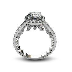 YES PLEASE!!! =D do you love this as much as I do? good lawd. #engagementring 2.03 ct Round Cut Diamond Engagement Ring