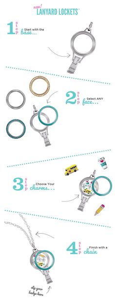 Origami Owl Living Lanyards