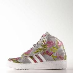 adidas wings floral shoes 9 mgh solid grey #shoes #solid #print #adidas #florals #covetme