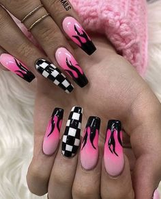 20 Best Acrylic Nails ideas than you need to copy ASAP - Ethinify . - Prom Acrylic Nails - 20 Best Acrylic Nails ideas than you need to copy ASAP – Ethinify - Edgy Nails, Grunge Nails, Stylish Nails, Swag Nails, Trendy Nails, Acrylic Nails Coffin Short, Summer Acrylic Nails, Best Acrylic Nails, Coffin Nails
