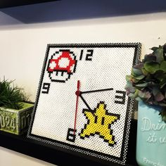 Inspired Mario clock perler beads by ruby724