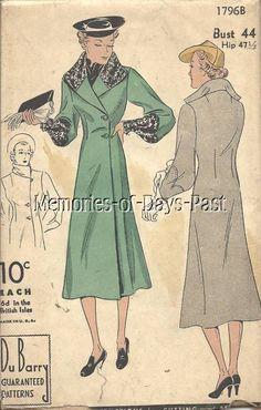 Fabulous 1930s Vintage Coat Pattern