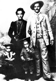 Joseph and his wife with children Aurilio and Julio Berlanda  1906 The Berlandos were an Italian family who immigrated to Lethbridge in the early 1900s.