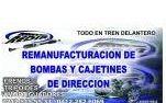 TALLER REDIR  SOMOS ESPECIALISTAS EN REMANUFACTURACION DE CAJETINES DE DIRECCION Y BOMBAS HIDRAULICAS DE CUALQUIER MARCA, MODELO Y AÑO, TRIPOIDES,.    TAMBIEN PRESTAMOS EL SERVICO DE FABRICAR GOMAS DE POLIURETANO A LA MEDIDA Y MECANICA LIGERA.    http://www.amarillasinternet.com/tallerredir