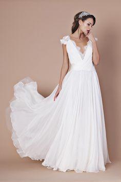 robe de mariée décolleté en V