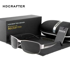 HDCRAFTER Fashion Driving Sun Glasses for Men Polarized UV400 Brand Designer Sunglasses Men Oculos Male gafas de sol 2017 Hot