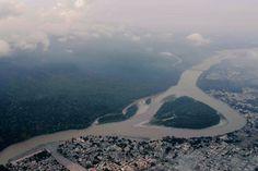 Spectacular aerial views of Rishikesh & mountain ranges/valleys