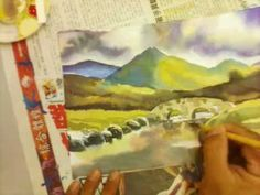690 Art Class - Cloudy weather watercolour painting.3gp