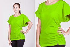 Dámské neonové tričko s netopýřími rukávy ve 3 neonových barvách