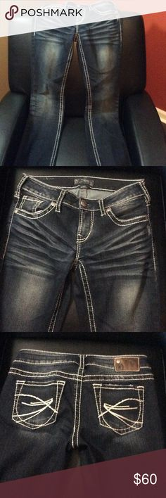 Silver Aiko Bootcut Jeans GUC GUC! Some wear on back of legs but not bad-see picture Silver Jeans Jeans Boot Cut