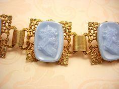 Vintage Nouveau Cameo Goddess BRacelet Nymph by vintagesparkles, $135.00