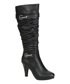 Black Scrunch Sandra Boot.  Love everything about these!!!