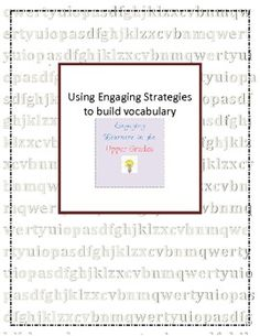 These are some engaging activities to help build content and real world vocabulary in your classroom....