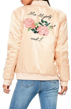 A silk embroidered bomber made (literally) just for you