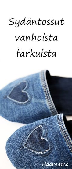 Denim House Slippers http://www.haaraamo.fi/                                                                                                                                                                                 More