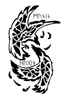 huggin and muninn tattoos